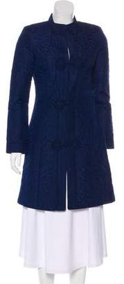 Trina Turk Patterned Knee-Length Coat