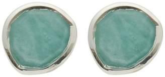 Monica Vinader Silver Siren Amazonite Stud Earrings