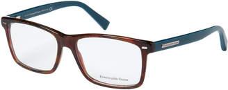 Ermenegildo Zegna EZ5002 Tortoiseshell-Look & Blue Rectangular Optical Frames