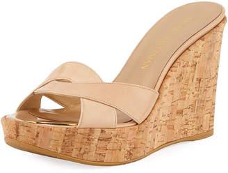 cdccd4ba519 Stuart Weitzman Beige Platform Women s Sandals - ShopStyle