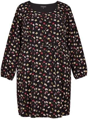 caf02c8d9ae Dorothy Perkins Womens Dp Curve Plus Size Multi Colour Floral Print Button  Detail Tea Dress
