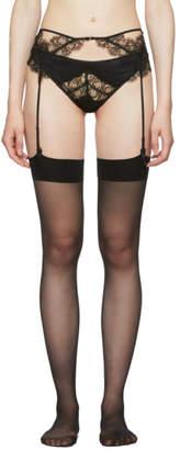 Kiki de Montparnasse Black Sensuel Silk Garter Belt