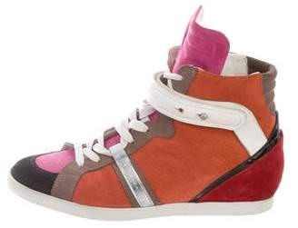 Barbara Bui Suede High-Top Sneakers