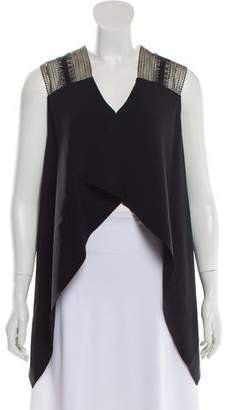 Roland Mouret Lace-Accented Sleeveless Top