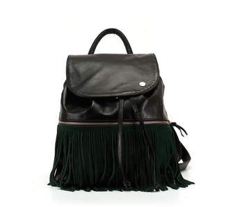 LaBelle Ozerianko Bags Backpack With Removable Fringe Verte