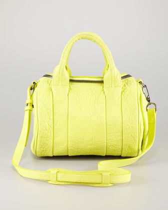 Alexander Wang Rockie Small Crossbody Satchel Bag, Acid