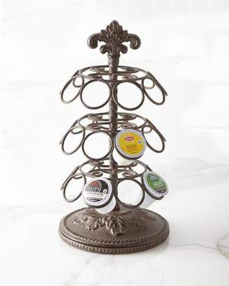 GG Collection G G Collection Metal Acanthus Leaf Spinning Coffee Pod Holder