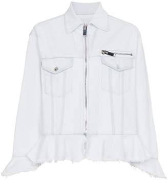 MSGM frill trim denim jacket