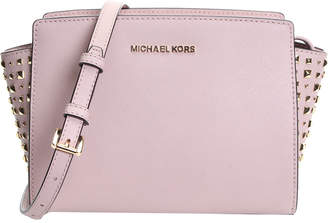 a14d0266402517 Michael Kors Michael Selma Studio Leather Crossbody