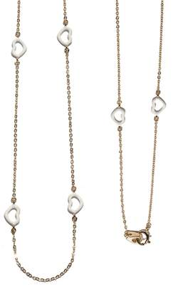 Jordan Askill White Enamel Mutli-Heart Necklace