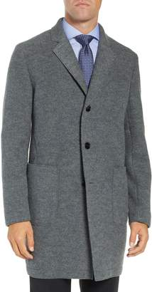 BOSS Sergio Trim Fit Wool Overcoat
