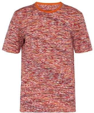 Missoni Stripe Print Cotton T Shirt - Mens - Orange