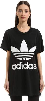 adidas Oversized Logo Cotton Jersey T-Shirt