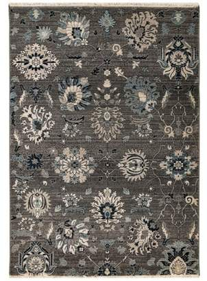 Liora Manné 2'X8' Shapes Woven Runner Rug Charcoal Heather