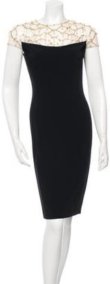 Jenny Packham Embellished Sheath Dress $610 thestylecure.com