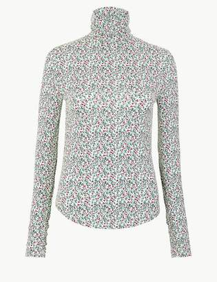 Marks and Spencer Floral Roll Neck Top