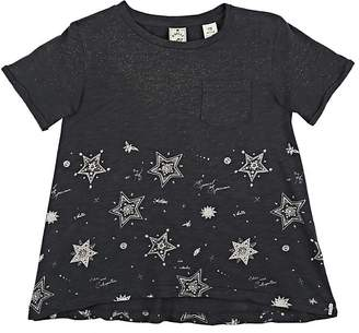 Scotch R'Belle KIDS' STAR-PRINT COTTON A-LINE T-SHIRT