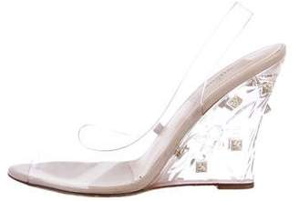 Valentino PVC Wedge Pumps