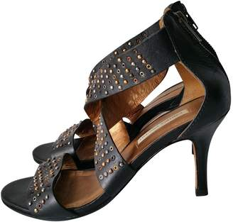 Cynthia Vincent Black Leather Heels