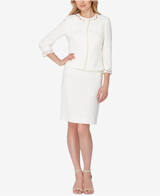 Tahari ASL Embellished Laser-Cut Skirt Suit $320 thestylecure.com