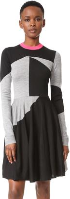 McQ - Alexander McQueen Colorblock Sweater Dress $440 thestylecure.com