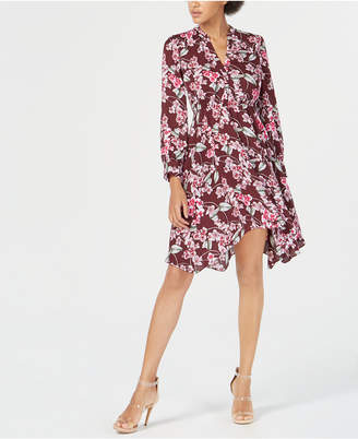 7840641628 Bar III Handkerchief-Hem Shirtdress