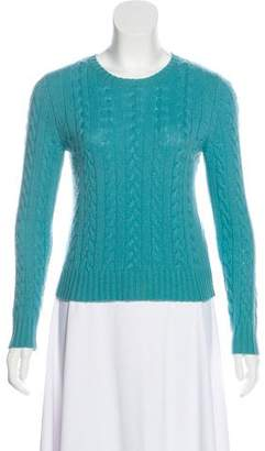 Calypso Cable Knit Crew Neck Sweater