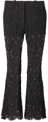 Proenza Schouler Corded Lace Flared Pants - Black