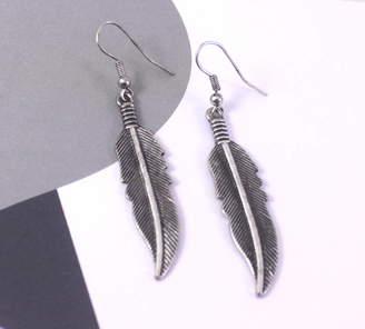 934784f91 Lucy Loves Neko Feather Charm Drop Earrings
