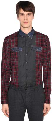 DSQUARED2 Carpenter Patchwork Cotton Check Shirt