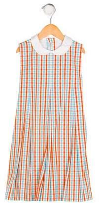 Papo d'Anjo Girls' Sleeveless Plaid Dress