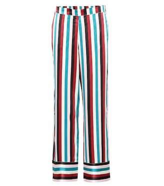 Asceno Striped silk pajama pants