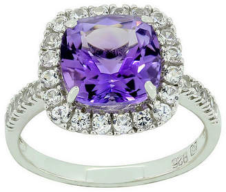 JCPenney FINE JEWELRY Genuine Amethyst & Lab-Created White Sapphire Ring