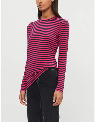 E.m. ME AND Striped stretch-jersey top