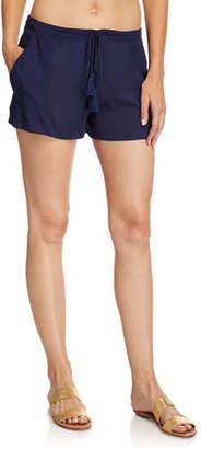 Ramy Brook Cosmo Drawstring Cotton Shorts