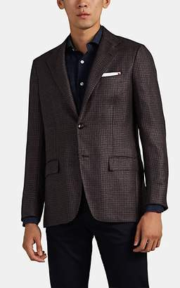 Kiton Men's KB Houndstooth Cashmere-Blend Two-Button Sportcoat - Brown