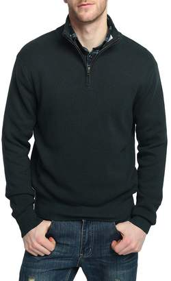 Kallspin Men's Relaxed Fit Solid Quarter Zip Sweater Pullover with YKK Zipper (, XL)