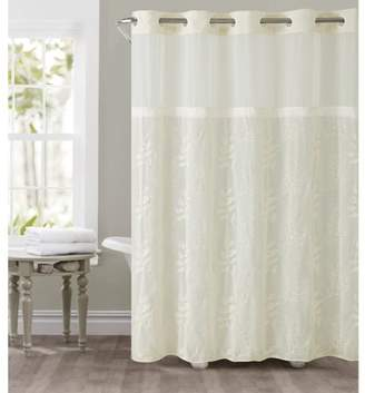 Generic Hookless Ivory Palm Leaves Polyester Shower Curtain
