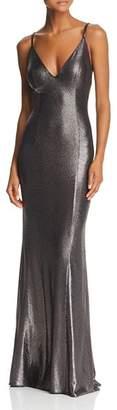 Aidan Mattox Metallic Knit Mermaid Dress
