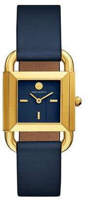 Tory Burch Phipps Leather Strap Watch, 29mm x 42mm