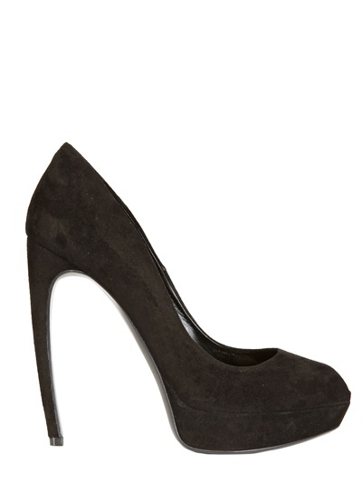 Alexander McQueen 130mm Suede Open Toe Pumps