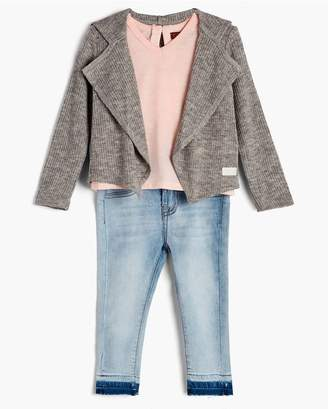 7 For All Mankind Kids Girls 12M-24M Cardigan Tee Skinny In Seashell Pink