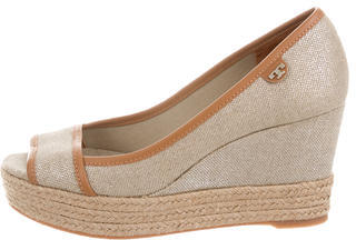 Tory Burch Tory Burch Peep-Toe Espadrille Wedges