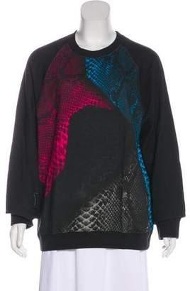 Christopher Kane Long Sleeve Printed Sweatshirt