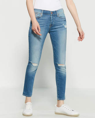 70e3c2ffbf3 7 For All Mankind Light Distressed Josefina Skinny Boyfriend Jeans