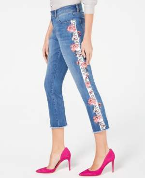 INC International Concepts I.n.c. Embroidered Side-Seam Skinny Cropped Jeans, Created for Macy's