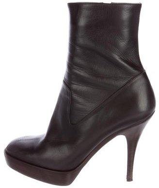 Saint LaurentYves Saint Laurent Round-Toe Platform Ankle Boots
