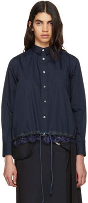 Sacai Navy Lace Bottom Shirt