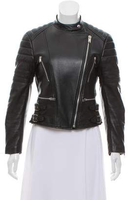 Celine Leather Moto Jacket