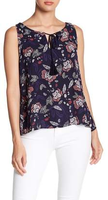 BB Dakota Sleeveless Floral Blouse